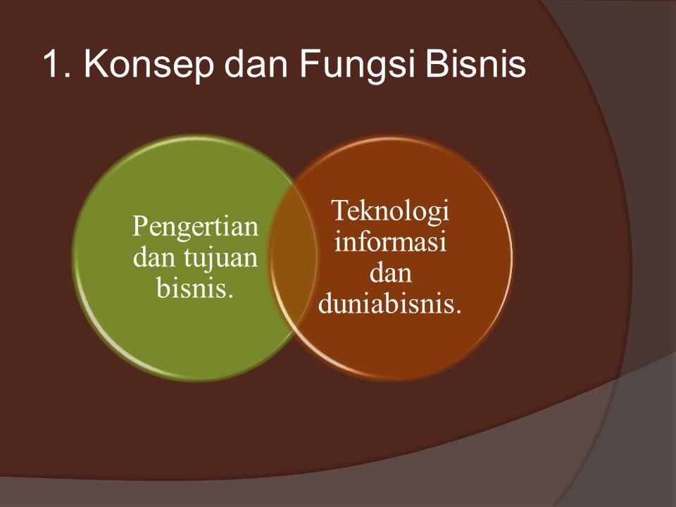 1. Konsep dan Fungsi Bisnis