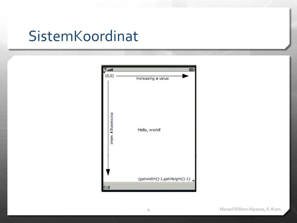 Contoh Hello World Marsel Willem Aipassa, S. Kom.