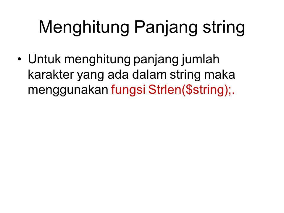 Menghitung Panjang string