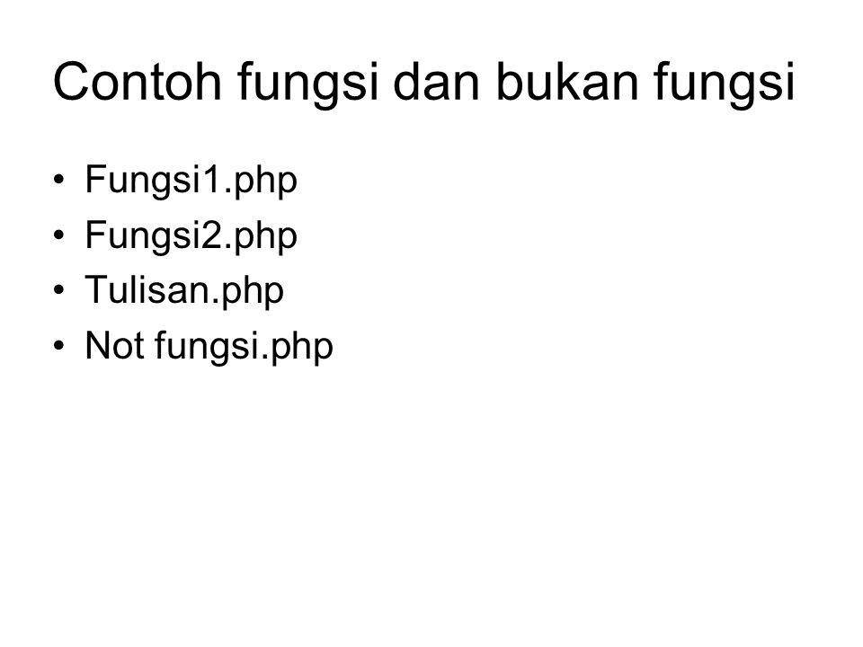 Contoh fungsi dan bukan fungsi