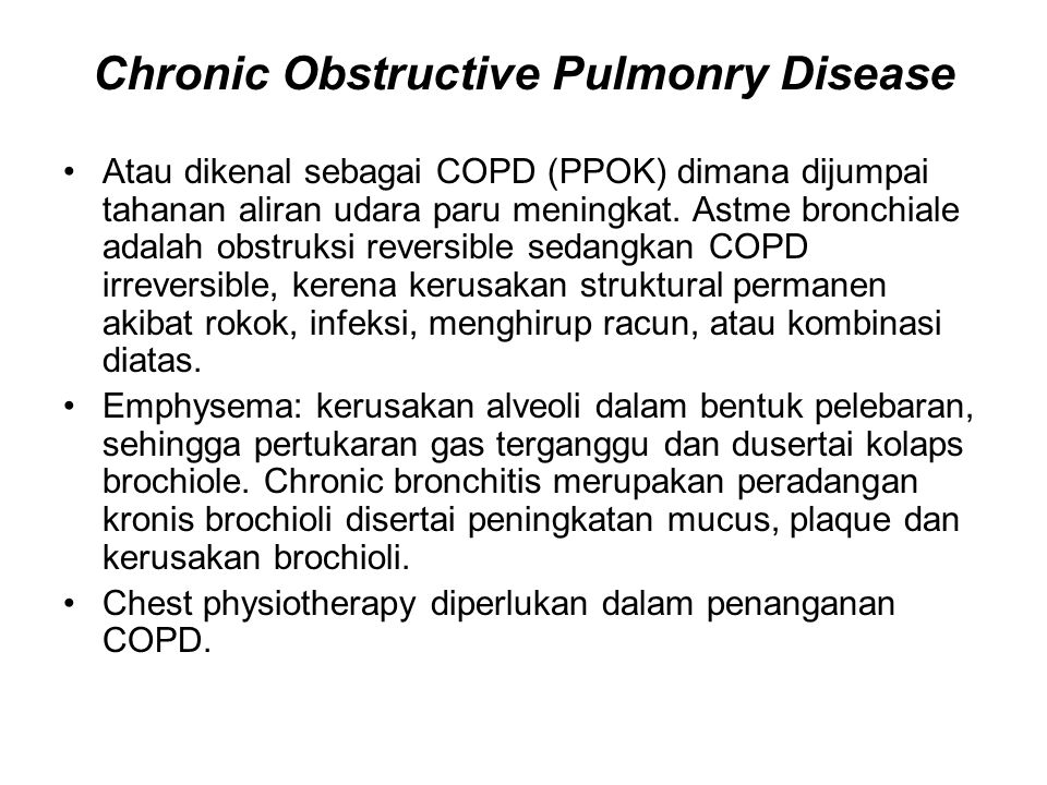 Chronic Obstructive Pulmonry Disease