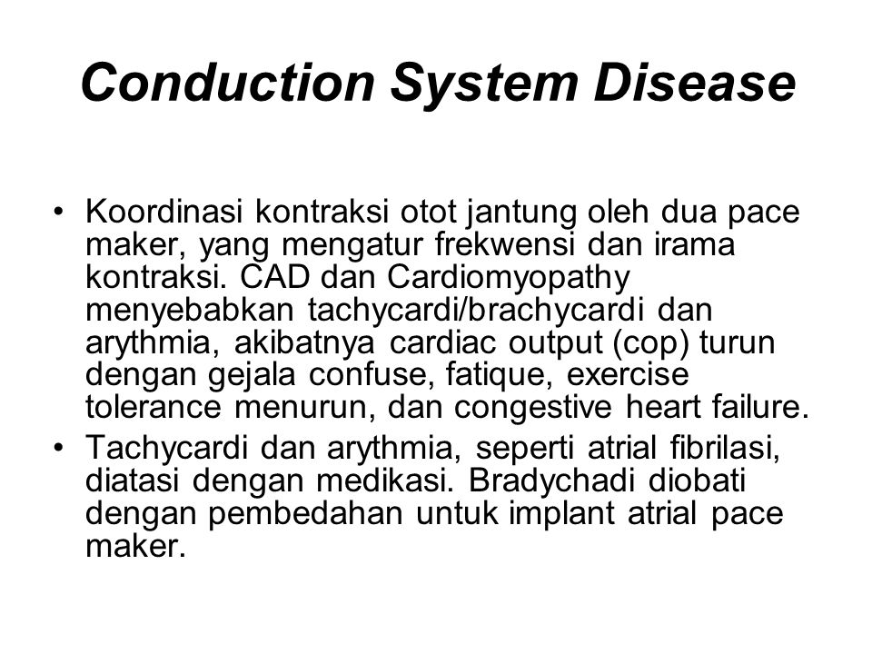 Conduction System Disease