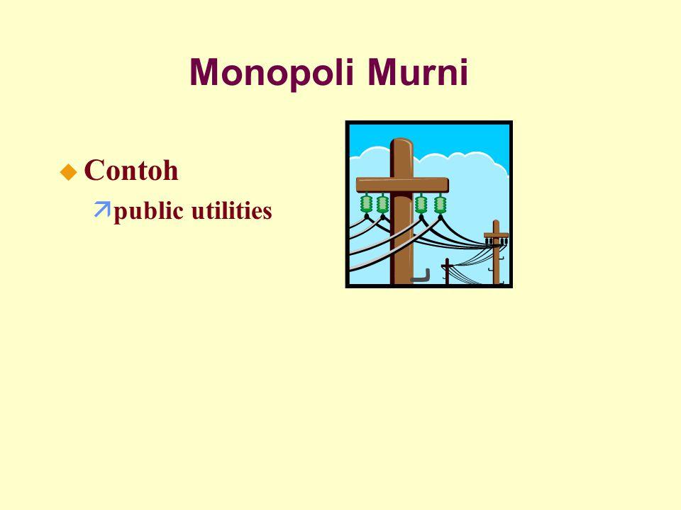 Monopoli Murni Contoh public utilities