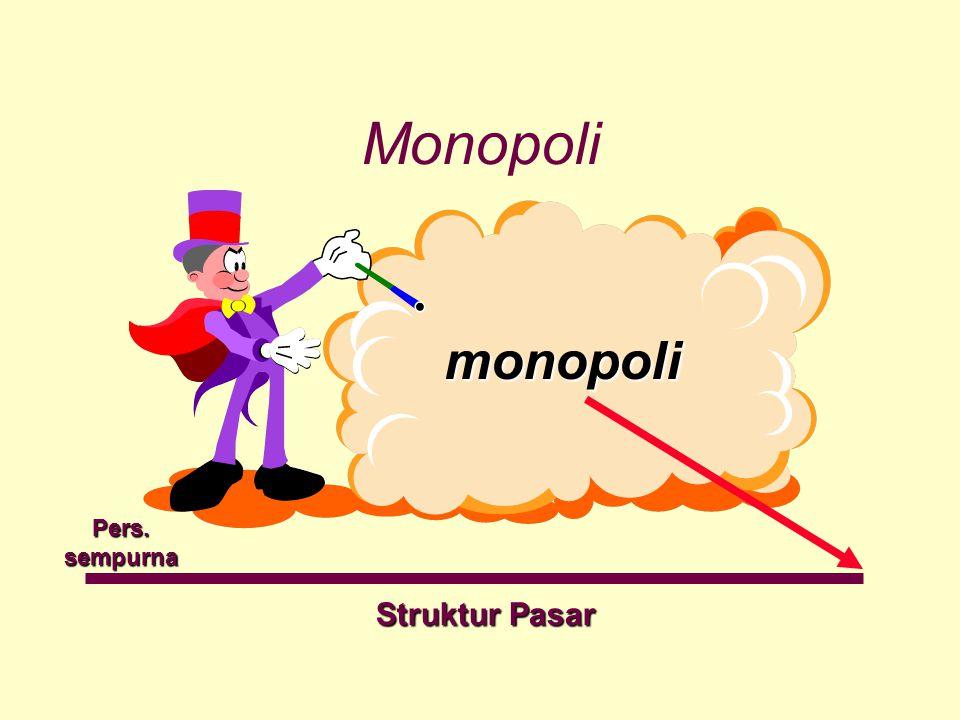 Monopoli monopoli Pers. sempurna Struktur Pasar