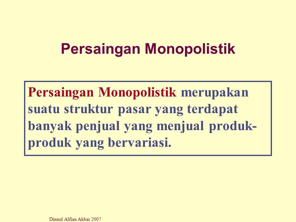 Persaingan Monopolistik