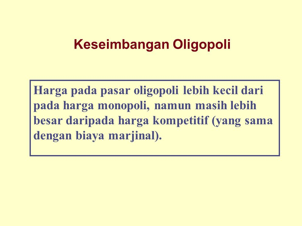 Keseimbangan Oligopoli