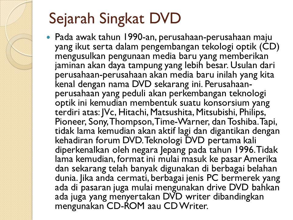 Sejarah Singkat DVD