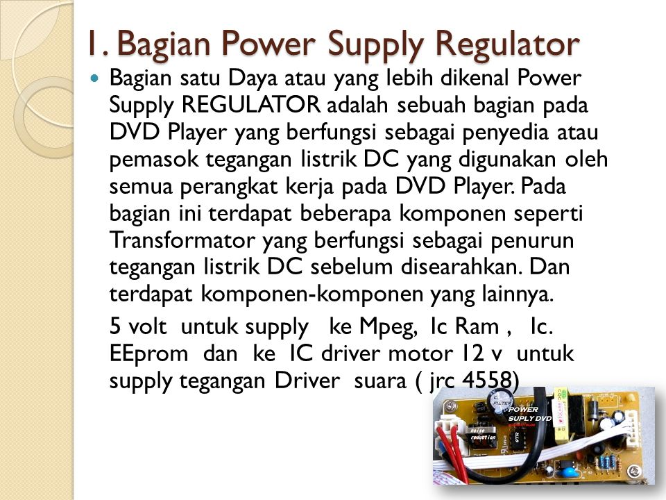 1. Bagian Power Supply Regulator