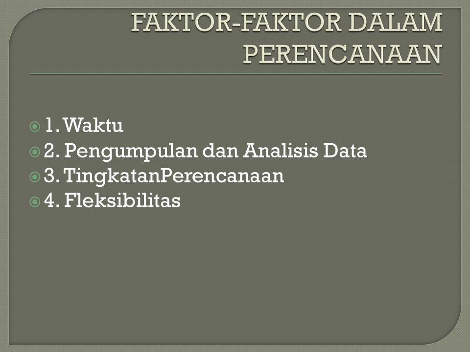 FAKTOR-FAKTOR DALAM PERENCANAAN