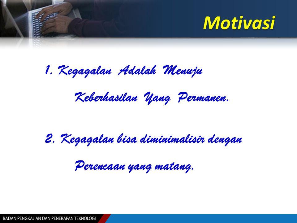 Motivasi 1. Kegagalan Adalah Menuju Keberhasilan Yang Permanen.