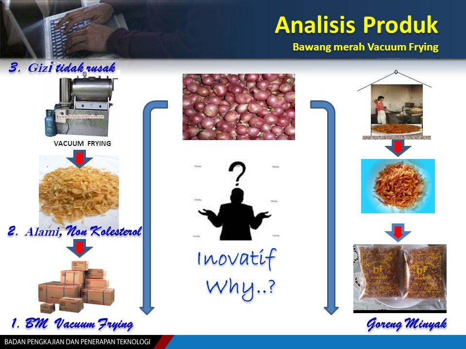 Analisis Produk Inovatif Why.. 3. Gizi tidak rusak