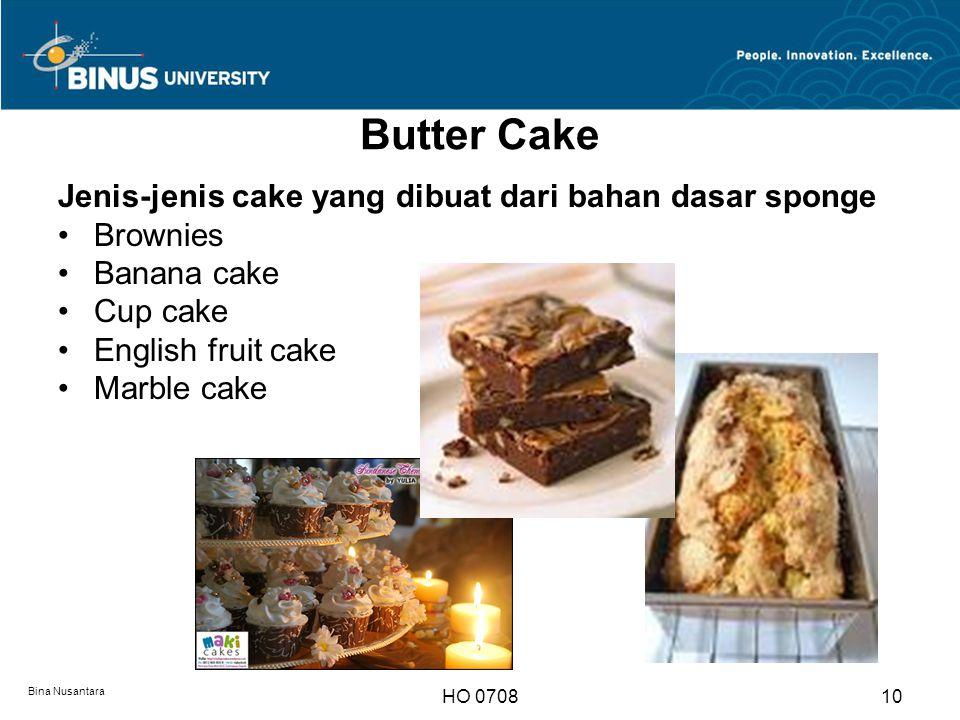 Butter Cake Jenis-jenis cake yang dibuat dari bahan dasar sponge