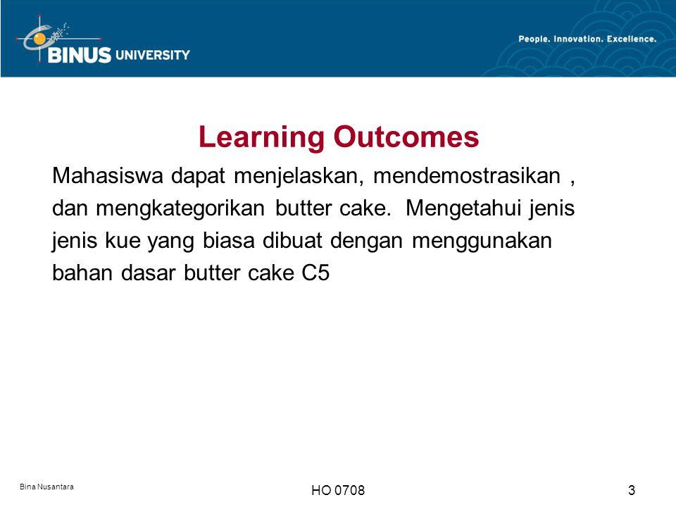 Learning Outcomes Mahasiswa dapat menjelaskan, mendemostrasikan ,
