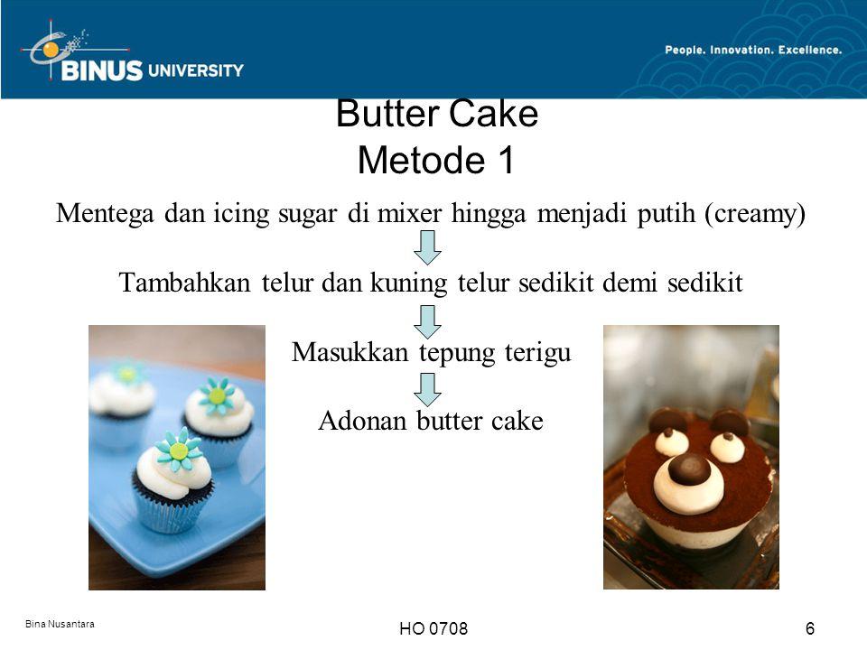 Butter Cake Metode 1