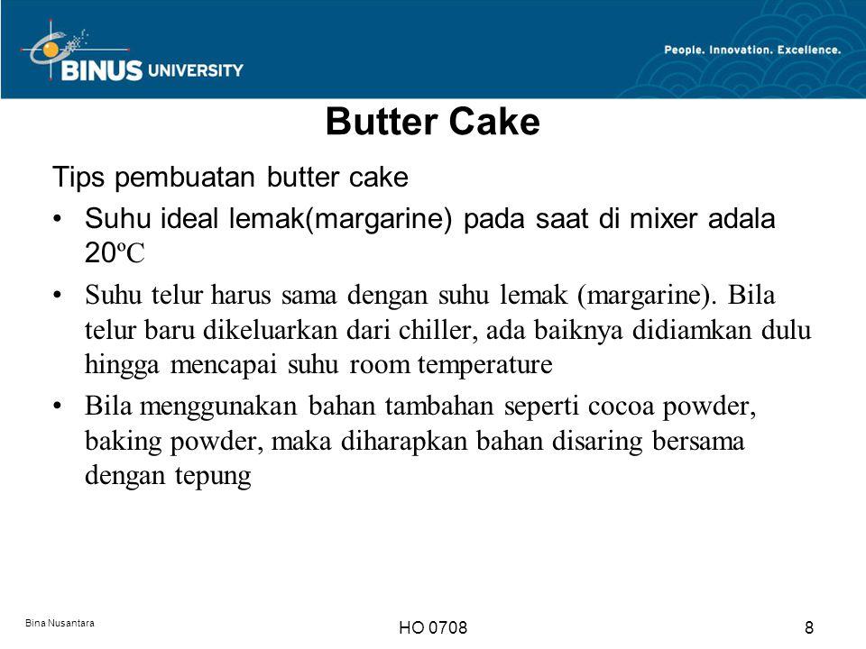 Butter Cake Tips pembuatan butter cake