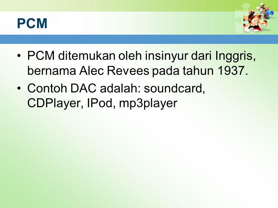 PCM PCM ditemukan oleh insinyur dari Inggris, bernama Alec Revees pada tahun 1937.