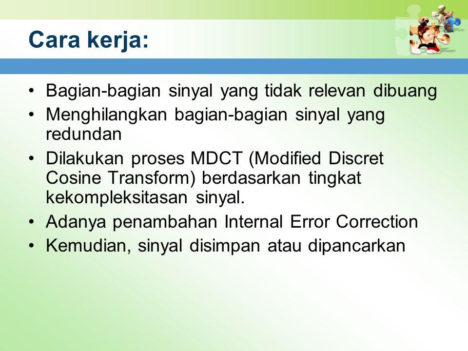 Cara kerja: Bagian-bagian sinyal yang tidak relevan dibuang
