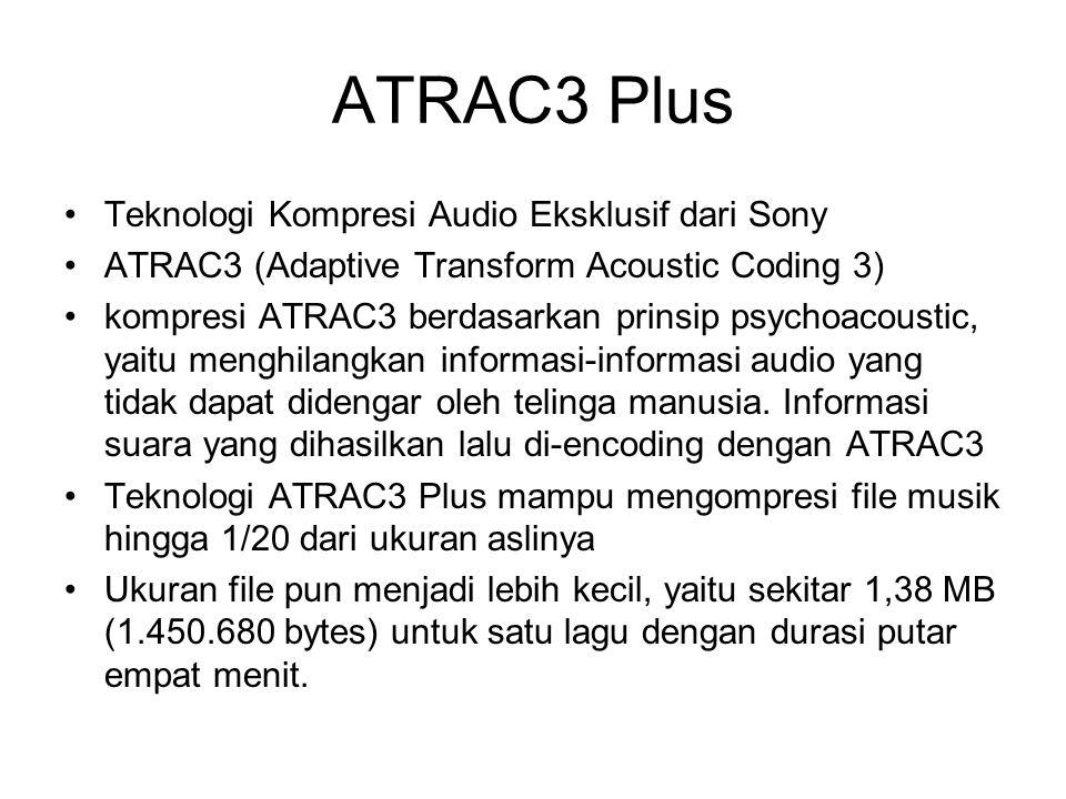 ATRAC3 Plus Teknologi Kompresi Audio Eksklusif dari Sony