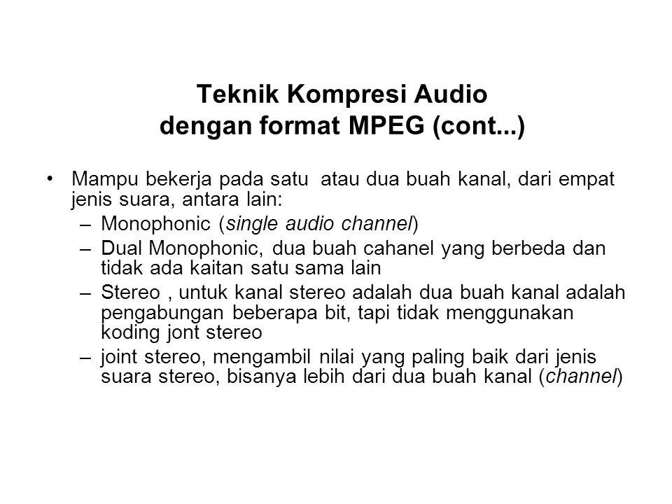 Teknik Kompresi Audio dengan format MPEG (cont...)