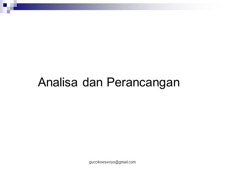 Analisa dan Perancangan