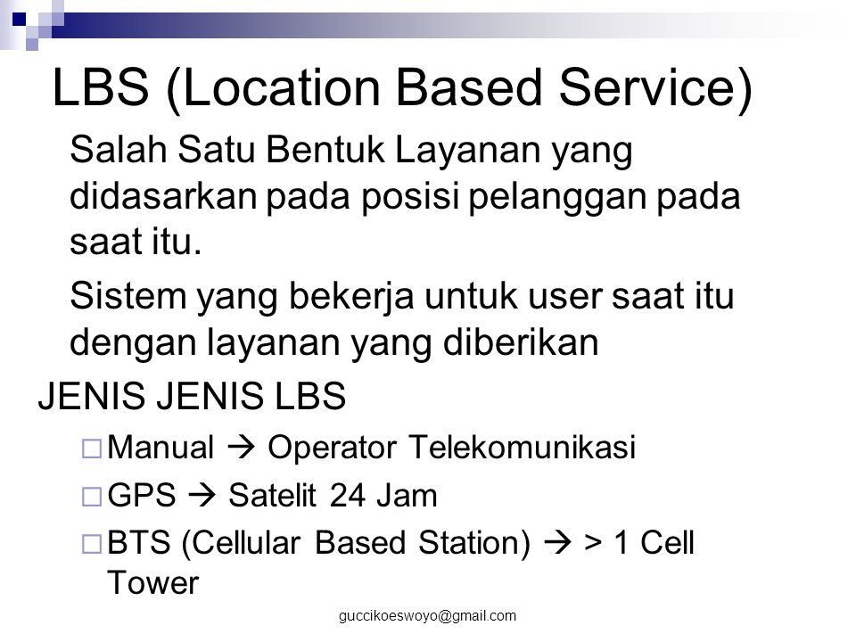 LBS (Location Based Service)