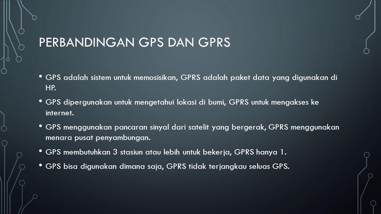 Perbandingan gps dan gprs