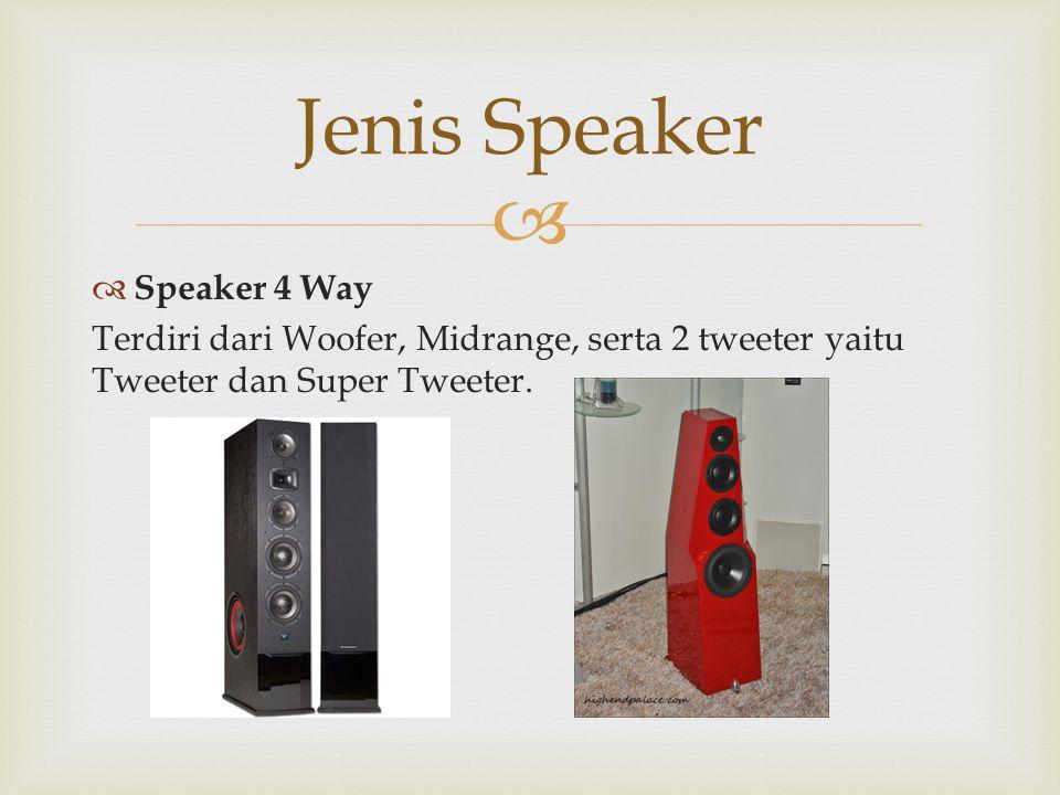 Jenis Speaker Speaker 4 Way