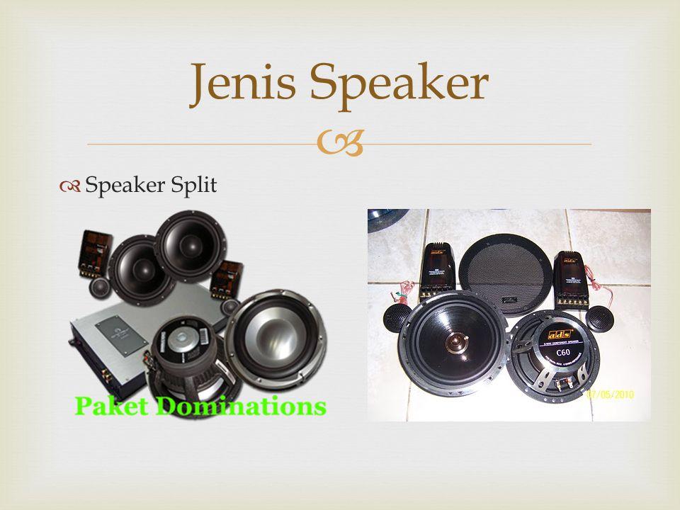 Jenis Speaker Speaker Split