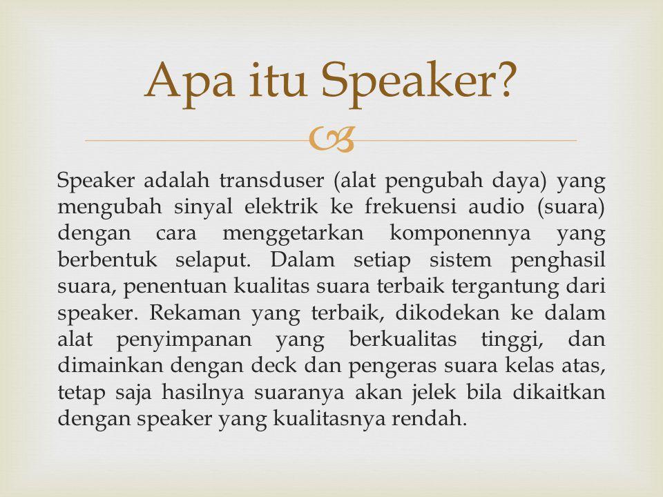 Apa itu Speaker