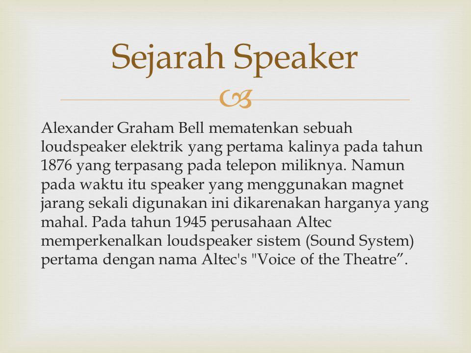 Sejarah Speaker