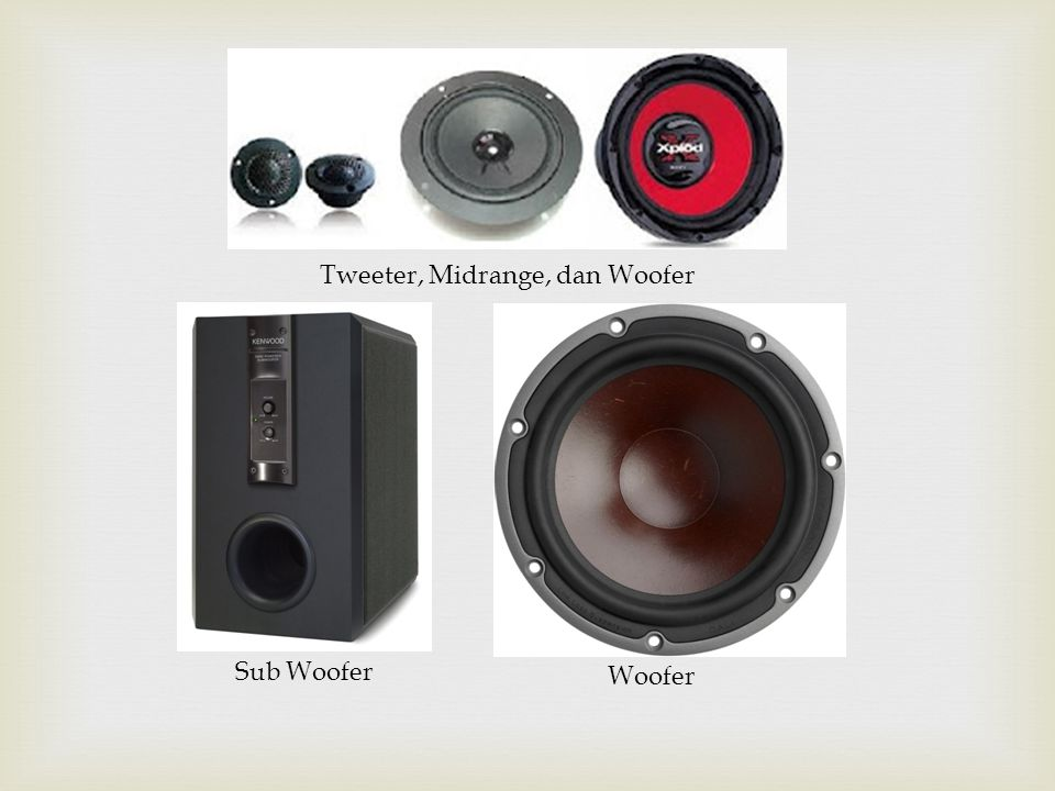 Tweeter, Midrange, dan Woofer