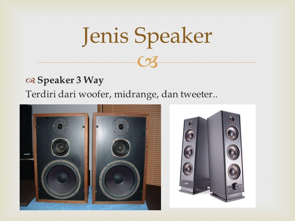 Jenis Speaker Speaker 3 Way