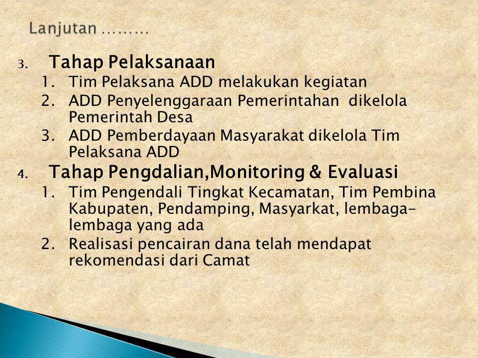 Tahap Pengdalian,Monitoring & Evaluasi