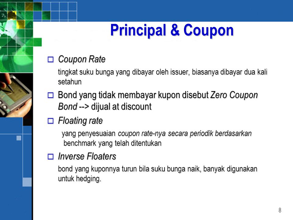 Principal & Coupon Coupon Rate