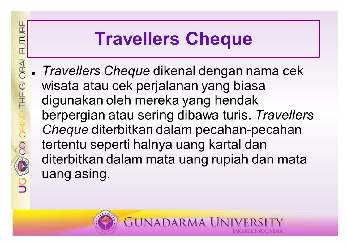 Travellers Cheque