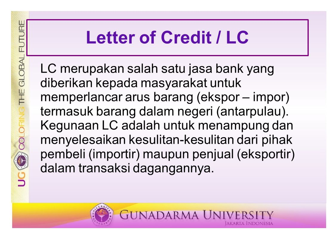 Letter of Credit / LC