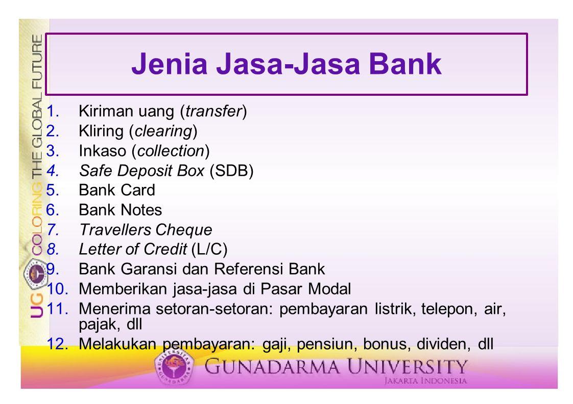 Jenia Jasa-Jasa Bank Kiriman uang (transfer) Kliring (clearing)