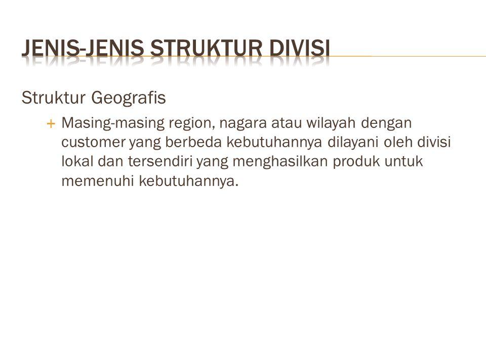 Jenis-jenis struktur divisi