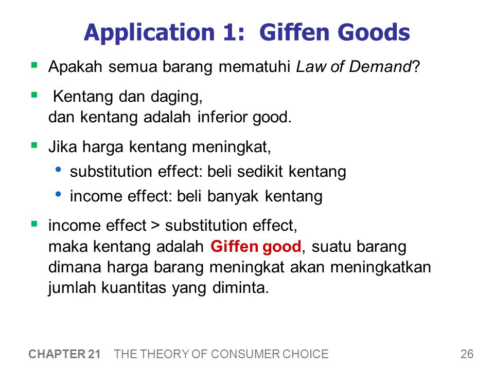 Application 1: Giffen Goods