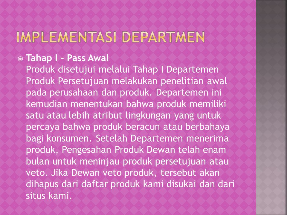 IMPLEMENTASI DEPARTMEN