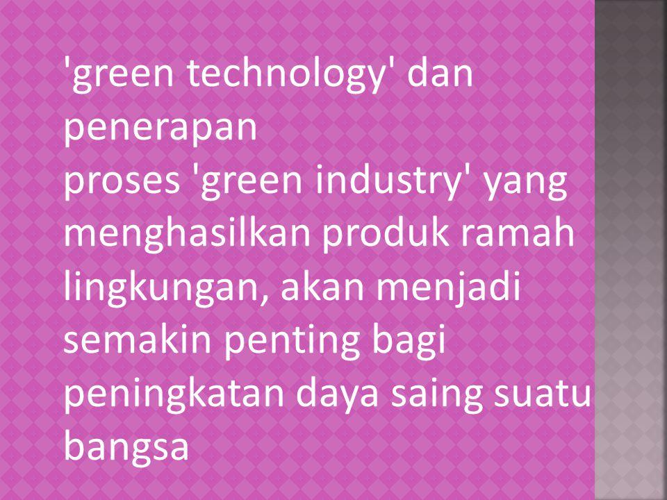 green technology dan penerapan
