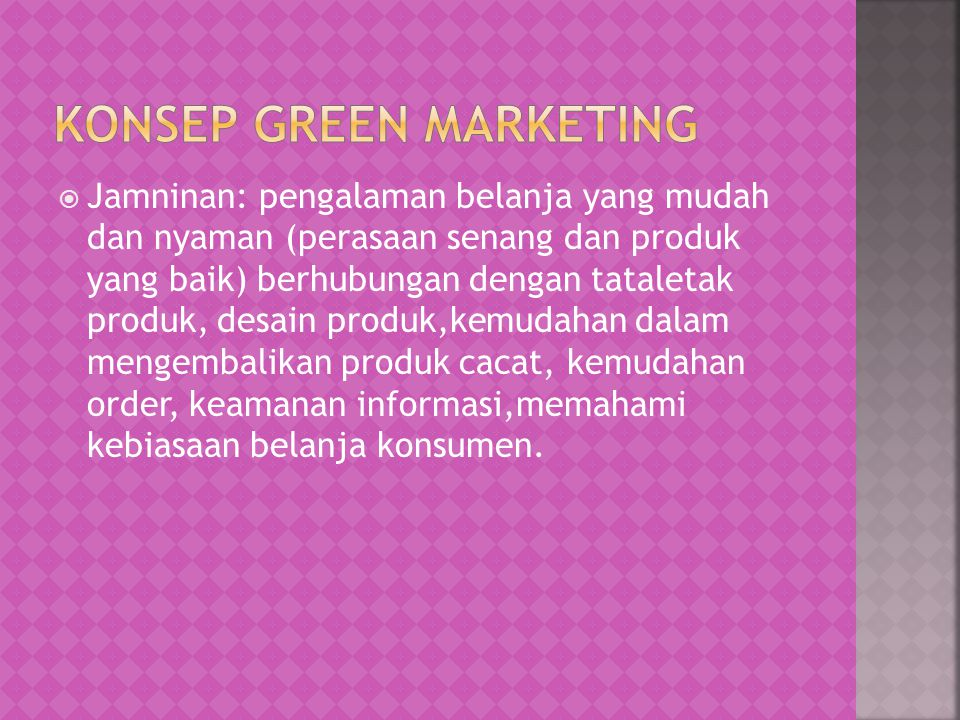 Konsep green marketing