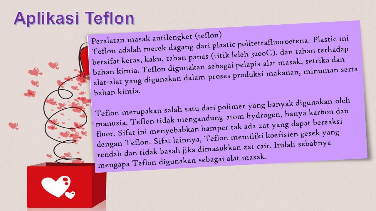Aplikasi Teflon Peralatan masak antilengket (teflon)