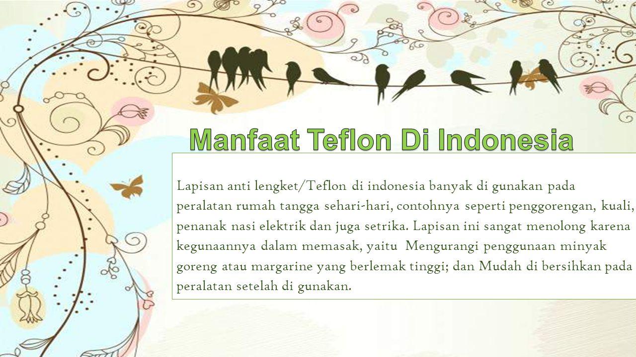 Manfaat Teflon Di Indonesia