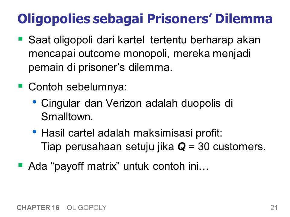 Cingular & Verizon in the Prisoners' Dilemma