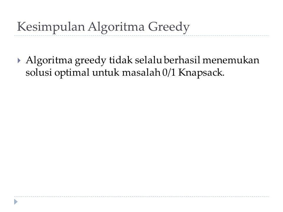 Kesimpulan Algoritma Greedy