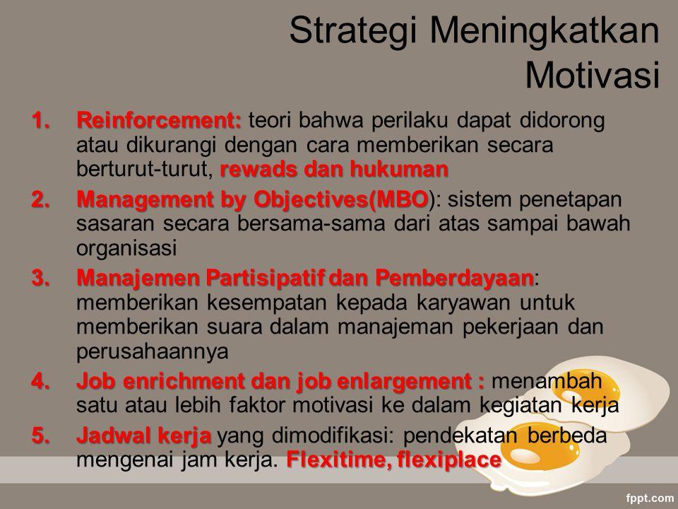 Strategi Meningkatkan Motivasi