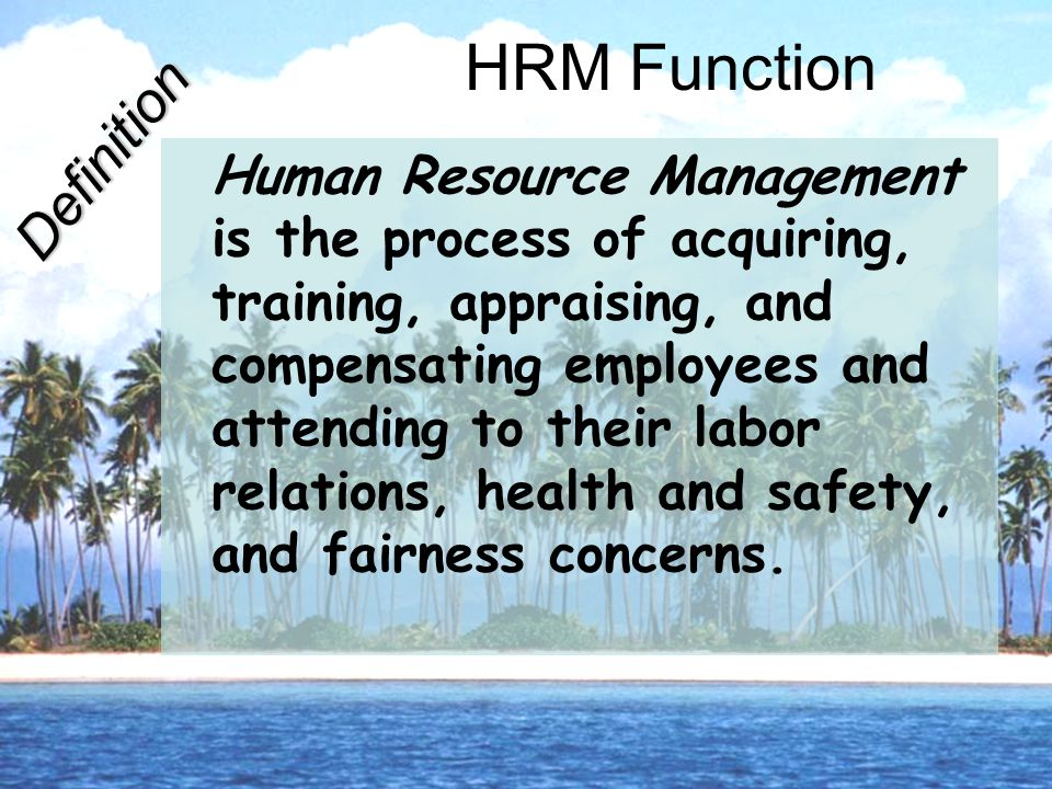 HRM Function Definition