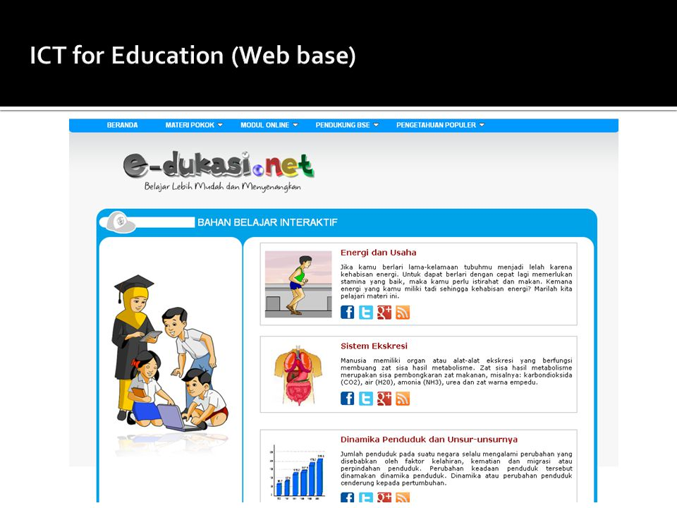 ICT for Education (Web base)