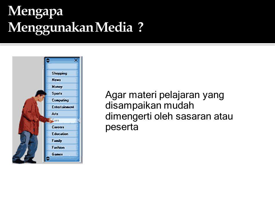 Mengapa Menggunakan Media